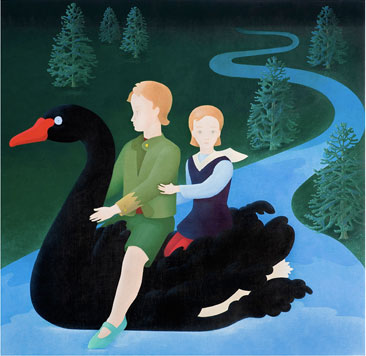 Hansel & Gretel  (Temple de huevo sobre tablex. 60 x 61 cms. 2009)