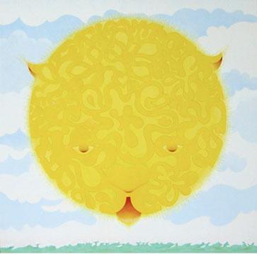 El gato sol  (Temple de huevo sobre tablex. 60 x 61 cms. 2010)
