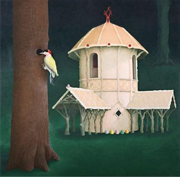 La casa de la bruja (Temple de huevo sobre tablex. 60 x 61 cms. 2009)