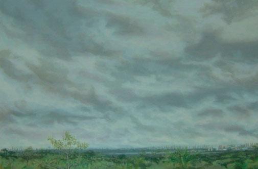 Brasilia desde el estudio I – 81 x 122 óleo/tabla  – 2012
