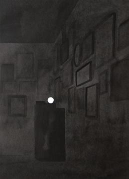 Colección V, 2013. Tinta china sobre papel Montval, 40 x 30 cm.
