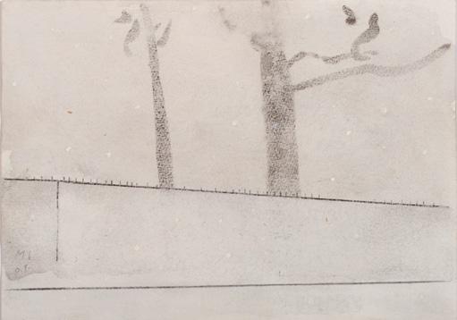 Nevando en Sebastiana. Óleo/lienzo 17x24 cm.