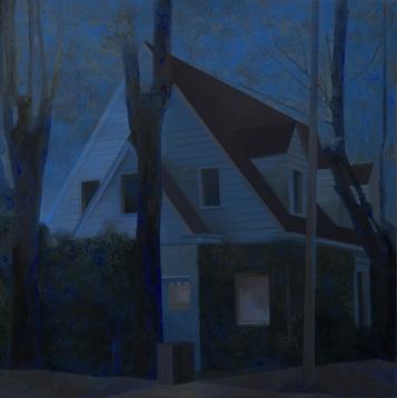 Alejandra Roux   Casa Hernández, 2007, óleo sobre tablex, 70x70 cm.