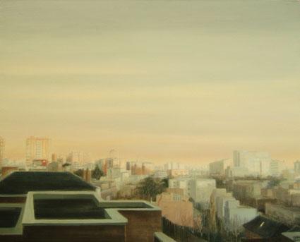 CALLE SEGRE 20, 2006 Óleo sobre lienzo, 73 x 92 cm.