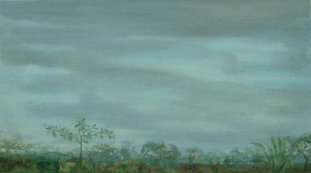 Brasilia desde el estudio II – 34 x 61 óleo/lienzo – 2012
