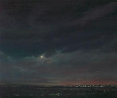 Brasilia desde el estudio III – 100 x 12 – óleo/lienzo – 2012
