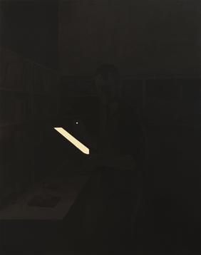 Arqueólogo, 2013. Acrílico sobre lienzo, 146 x 114 cm.