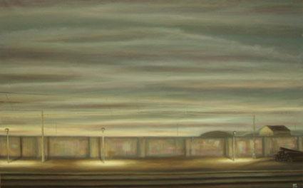 ESTACIÓN DE GUADALAJARA, 2006 Óleo sobre lienzo,73 x 116 cm.