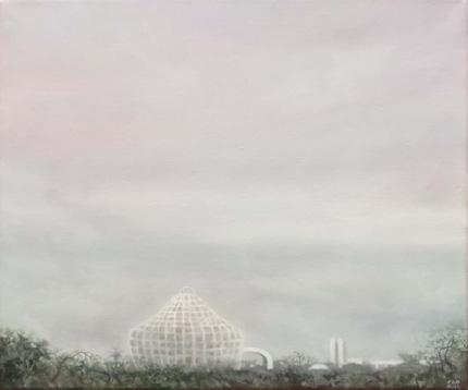 Boina de Niemeyer – 38 x 46 – óleo/lienzo – 2012