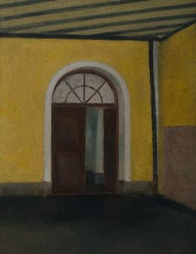 El portón de casa. Óleo/lienzo 35x27 cm.