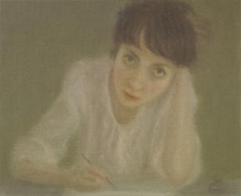 Chechu Álava Autorretrato, 2010. Óleo sobre lienzo. 33 x 41 cm.