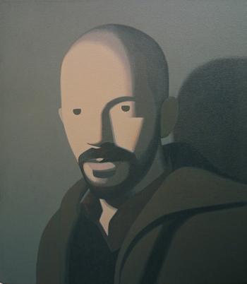 Fernando Martín Godoy Autorretrato de plástico, 2010. Acrílico sobre lienzo. 35 x 30 cm.