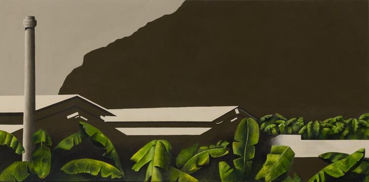 Plataneras en la Palma, 2011 Acrílico sobre lienzo, 140X70 cm.