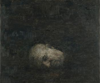 Miguel Galano Cabeza cortada (Autorretrato), 2010, óleo sobre lienzo, 60x73 cm