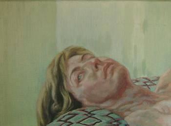 Concha Gómez Acebo Autorretrato, 2010. Óleo sobre lienzo. 22 x 33 cm.