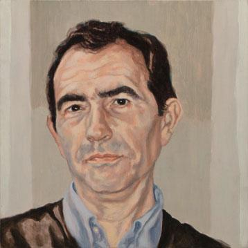 Concha Gómez-Acebo Ricardo Navarro, 2006. Óleo sobre tabla, 32 x 32 cm.