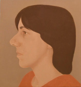 Elena Goñi Autorretrato de perfil, 2004, óleo sobre lienzo, 33x30 cm.