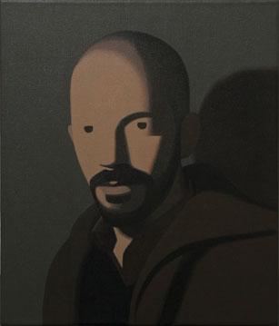Fernando Martín Godoy Autorretrato de Plástico, 2010, acrílico sobre lienzo 35x30 cm.