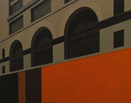 Fernando Martín Godoy Calle 16, 2005. Ácrílico sobre tabla entelada, 38 x 30 cm.