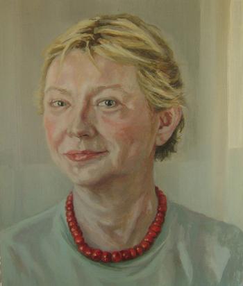 Concha Gómez Acebo Retrato de Joanna, 2010. Óleo sobre tabla. 32 X 28 cm.