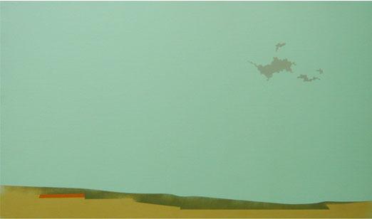 Majada y Nubes Grises.36x60cm.Acrílico-Tela.2009