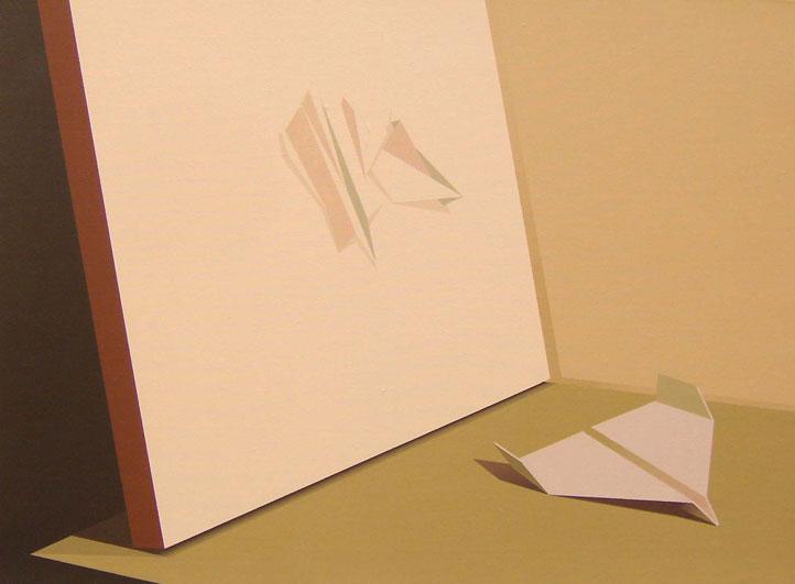 Origami-y-Naturaleza-Muerta-41x56-cm-Acrílico-lienzo-2012