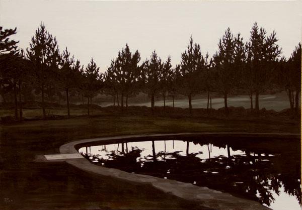 Piscina - óleo/lienzo 81 x 116 cm.