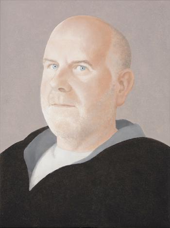 Elena Goñi  Retrato de Roberto Atance 2010. Óleo sobre lienzo. 100 x 100 cm.