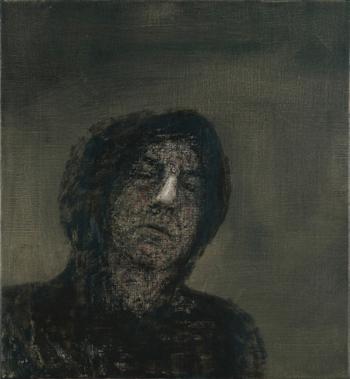 Miguel Galano San Francisco en meditación (Retrato de Ricardo Navarro), 2010, óleo sobre lienzo, 54x50 cm