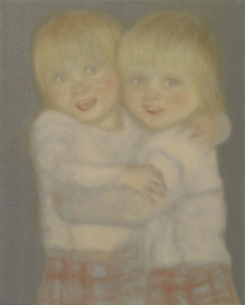 Chechu Álava Twins, 2010. Óleo sobre lienzo. 41 x 33 cm.
