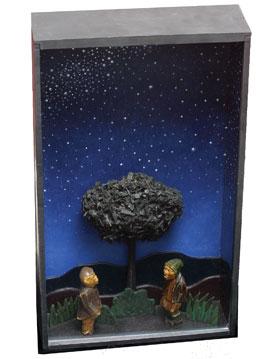 Alfredo Alcaín La espera, noviembre, 1997, 56,5 x 32,5 x 11,2 cm, mixta /cartón y madera