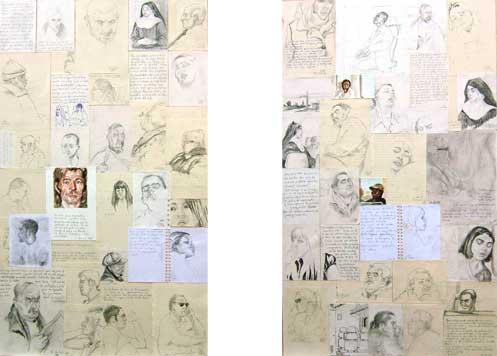 Apuntes de viaje  – 1 x 60 – Lápiz, acuarela y bolígrafo sobre papel – 2007-2009