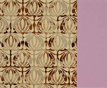 Manuel Losada Art Nouveau Ends Here, 2009 Acrílico sobre tela estampada 38X46 cm.