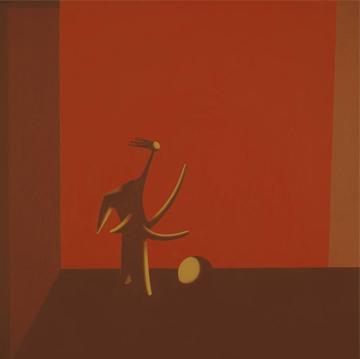 Bañista de Picasso. 2004. Acrílico sobre tabla entelada, 60 x 60 cm