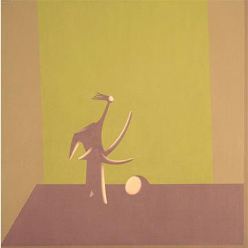 Bañista de Picasso II, 2004. Acrílico sobre tabla entelada, 60 x 60 cm