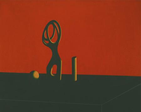Bodegón Arp-Moore, 2004. Acrílico sobre tabla entelada, 65 x 81 cm