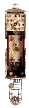Nacho Bolea Cheviot (serie Los Divagantes), 2002, 66 x 15 x 16 cm, Ensamblaje y técnica mixta (objeto para colgar en pared