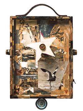 Nacho Bolea Tómbolo (serie Los Divagantes), 2002, 39 x 26 x 10 cm, ensamblaje y técnica mixta (objeto para colgar en pared)