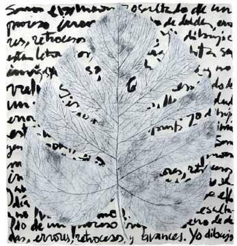 BotanicalPoems 60. Somos evolución. 2008 Técnica Mixta sobre papel hecho a mano en China. 99 x 93 cm.