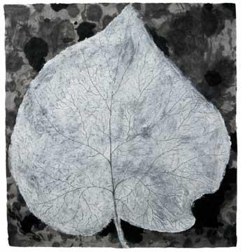 BotanicalPoems 24. 2008 Técnica Mixta sobre papel hecho a mano en China. 96 x 99 cm.