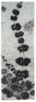 BotanicalPoems 70. 2007 Técnica Mixta sobre papel hecho a mano en China. 180 x 60 cm.