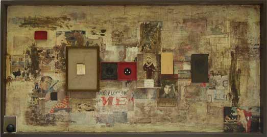 Manuel Bouzo El lago de los cisnes III, 2003, 56 X 109X 5,5 cm., diferentes técnicas/madera