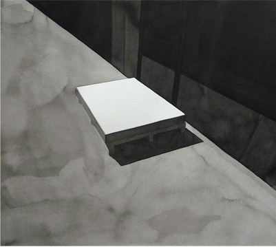 Caja, 2010, tinta china sobre papel Montval, 30 x 33 cm.
