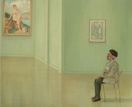 Calixte en el museo – 81 x 100 – Óleo sobre lienzo – 2009