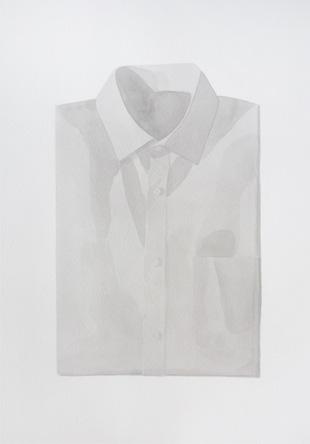 Camisa, 2010, tinta china sobre papel Montval, 28 x 40 cm.