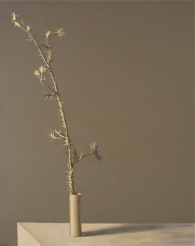 Cardo en flor - óleo/lienzo 81 x 65  cm.
