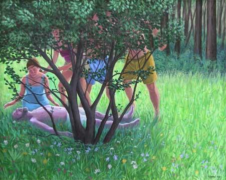 Ciclamor, 2005 Temple al huevo sobre tabla 63X78 cm.