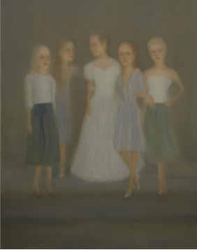 Cinco hermanas óleo sobre lienzo 162 x 130 cm. 2008-2009