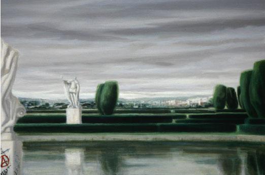 Concha Gómez-Acebo Sin título (2006). Óleo sobre lienzo, 50 x 90 cm.