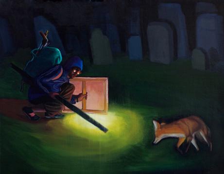 Encuentro Nocturno I, 2014 Óleo sobre lienzo  27 x 35 cm